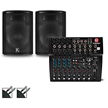 Harbinger L1202FX Mixer and Kustom HiPAC Speakers