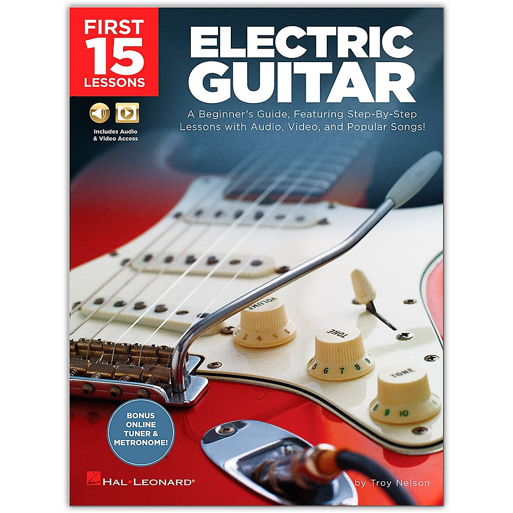 first 15 lessons electric guitar beginner 39 s guide step by step book media online 888680708405 ebay. Black Bedroom Furniture Sets. Home Design Ideas