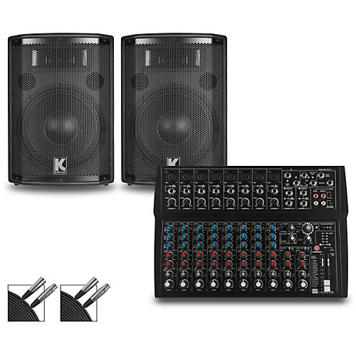 Harbinger L1402FX Mixer and Kustom HiPAC Speakers 10