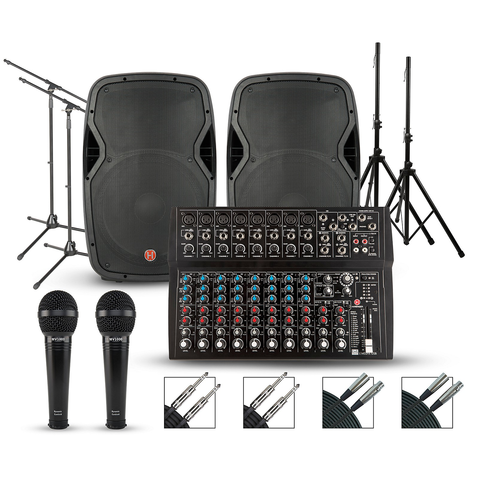 Harbinger L1402FX Mixer with Harbinger VARI PA Package