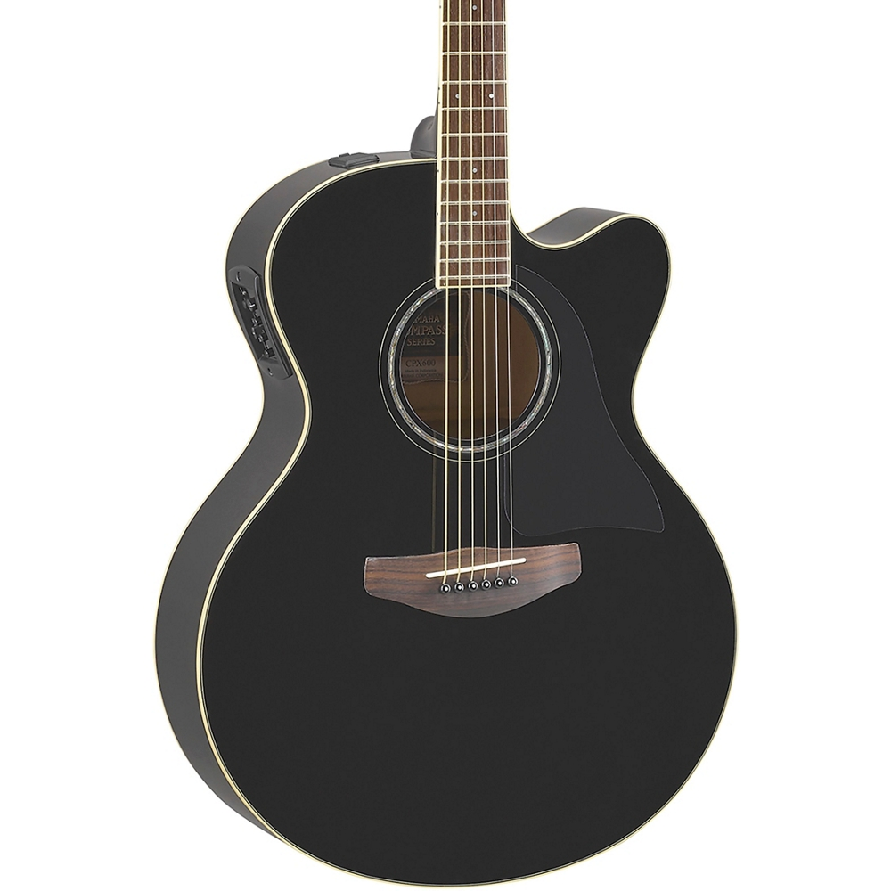 yamaha cpx600 medium jumbo acoustic electric guitar black 713289860189 ebay. Black Bedroom Furniture Sets. Home Design Ideas