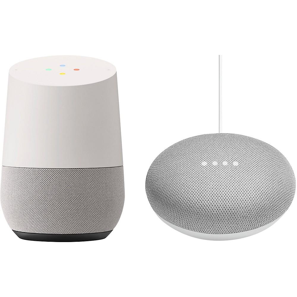 Google Home And Home Mini Bundle Chalk -  HomeHomeMiniChalk