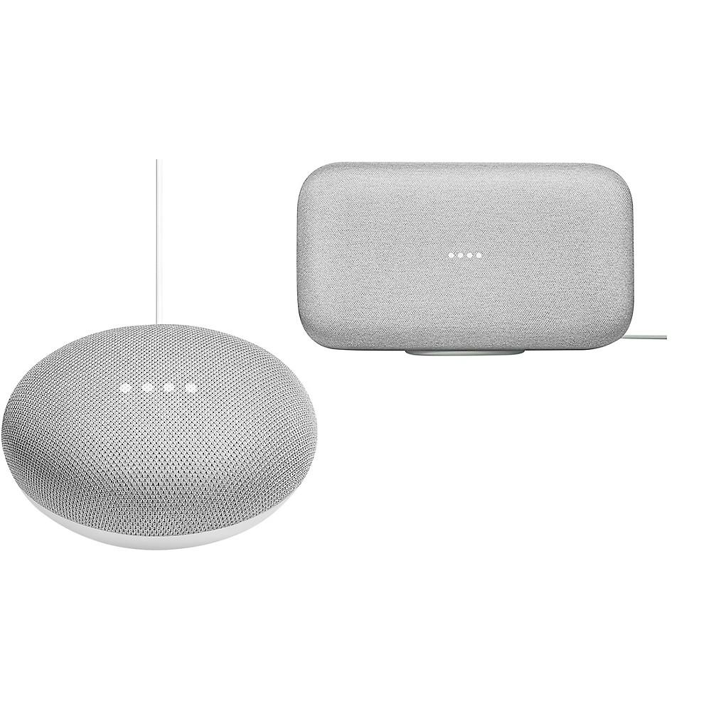 Google Home Max And Home Mini Bundle Chalk -  MaxMiniChalk