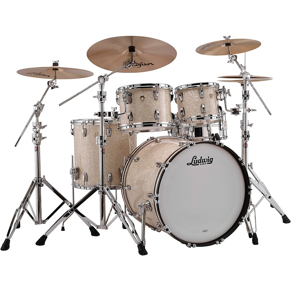 ludwig classic maple 4 piece mod shell pack w 22 bass drum vintage marine pearl 641064917349 ebay. Black Bedroom Furniture Sets. Home Design Ideas