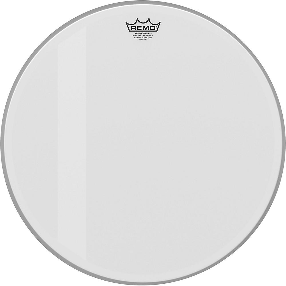 remo powerstroke p3 felt tone coated bass drum head 20 in 757242610350 ebay. Black Bedroom Furniture Sets. Home Design Ideas