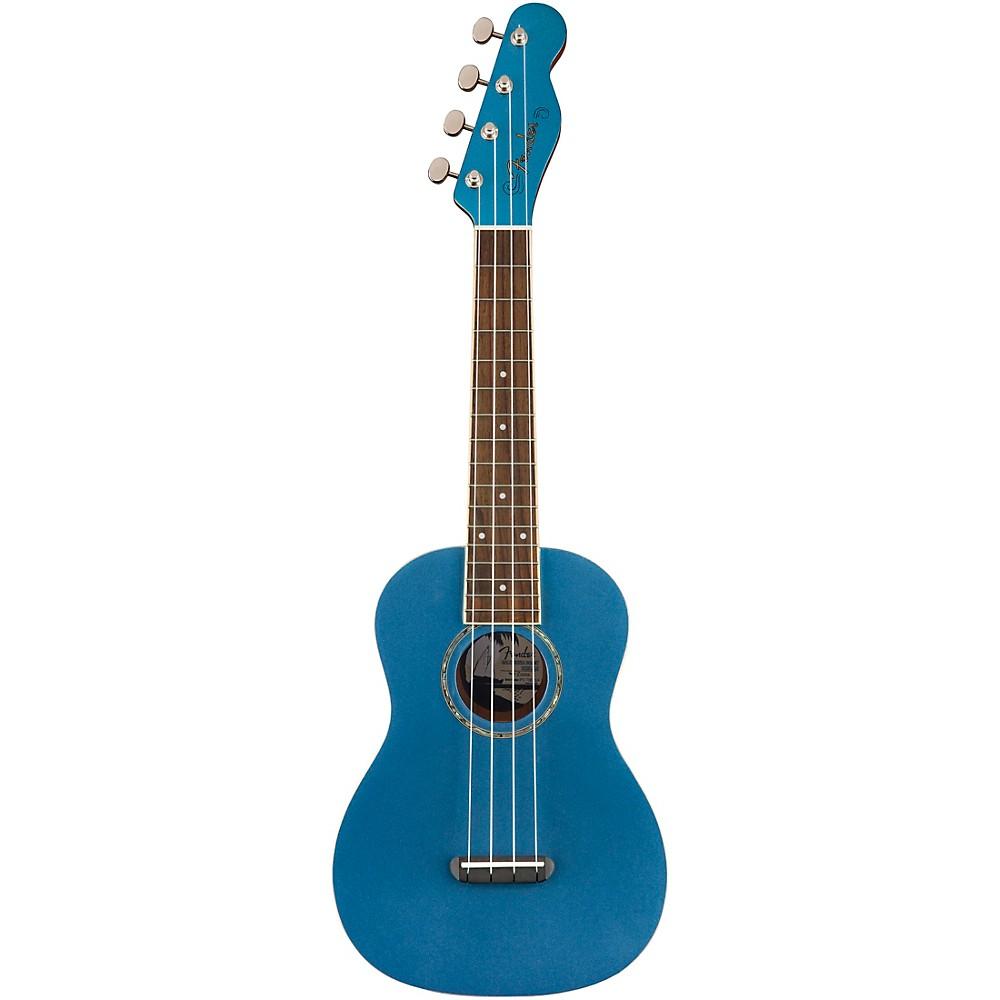 Fender Zuma Concert Ukulele Walnut Fingerboard Lake Placid Blue