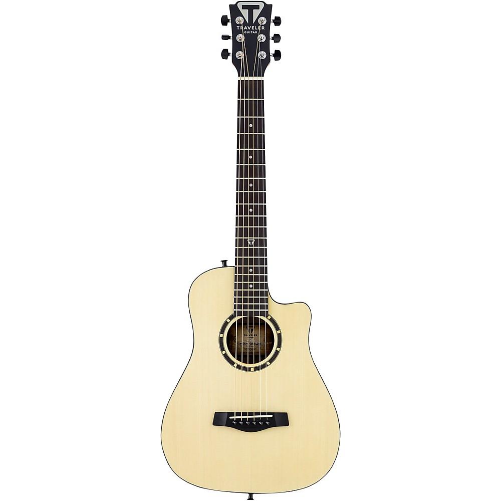 Traveler Guitar Camper Series Cs10 Acoustic Travel Guitar Satin Natural