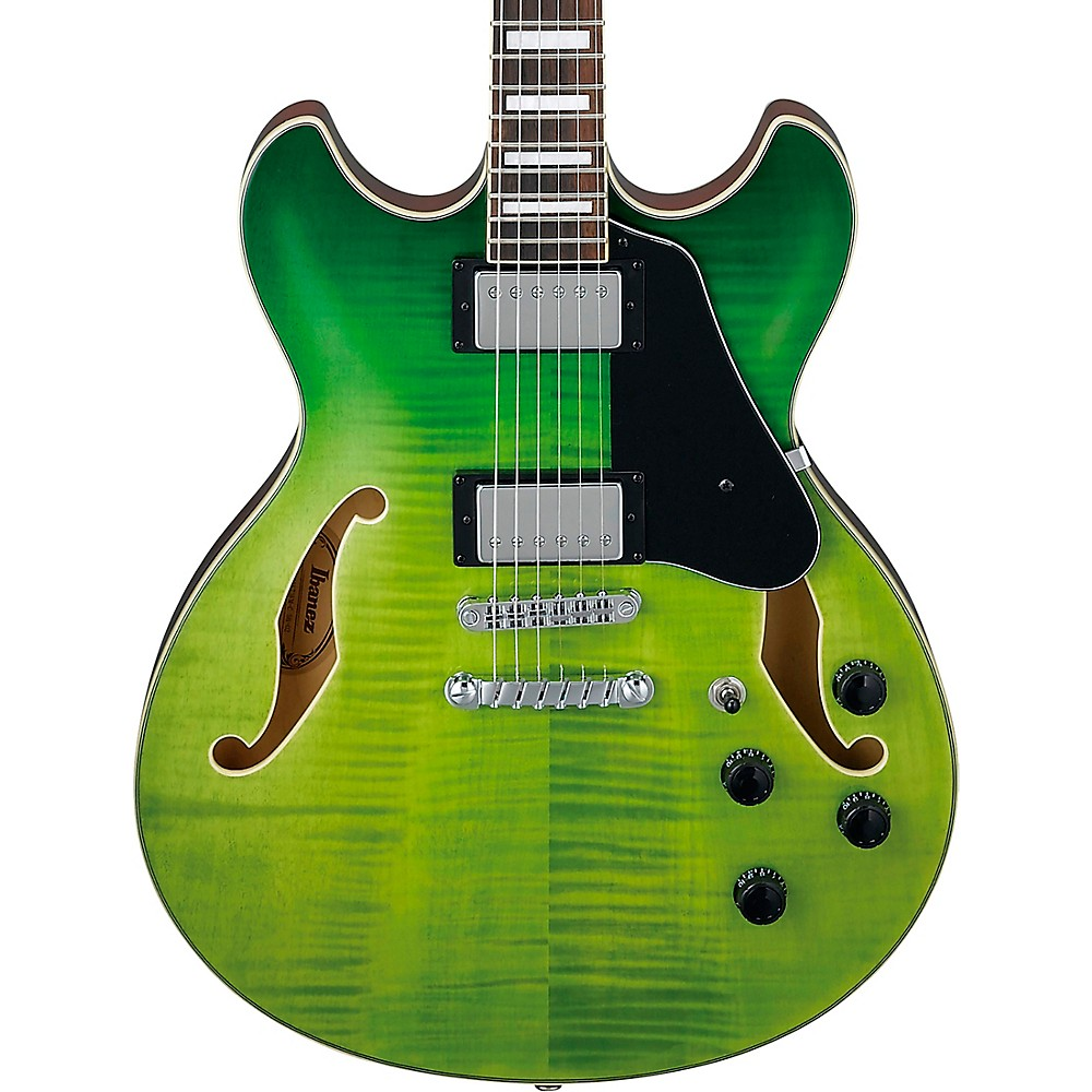 Ibanez As73fm Artcore Semi-Hollow Electric Guitar Green Valley Gradation