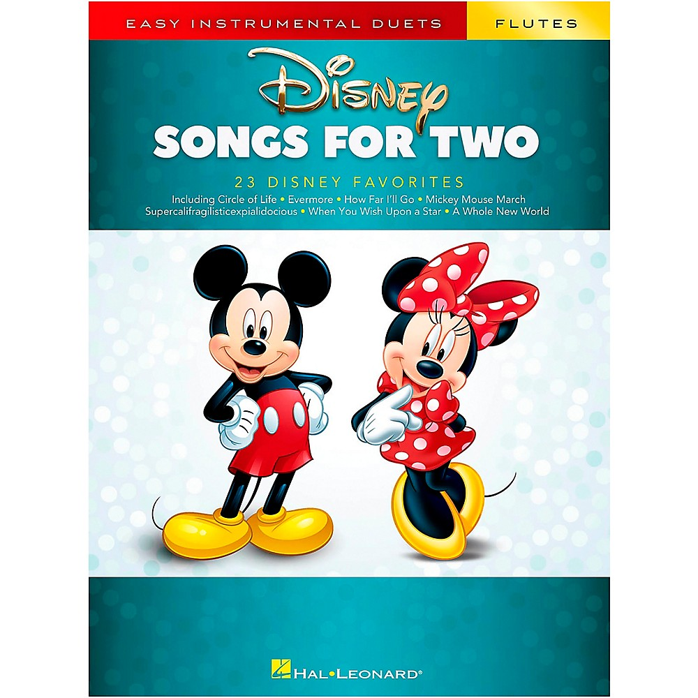 Disney Songs For Two Flutes Easy Instrumental Duets Book New 000284643 Musical Instruments & Gear