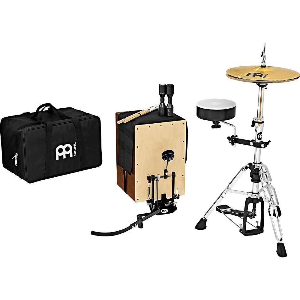 Meinl Cajon Drum Set With Cymbals And Direct-Drive Pedal