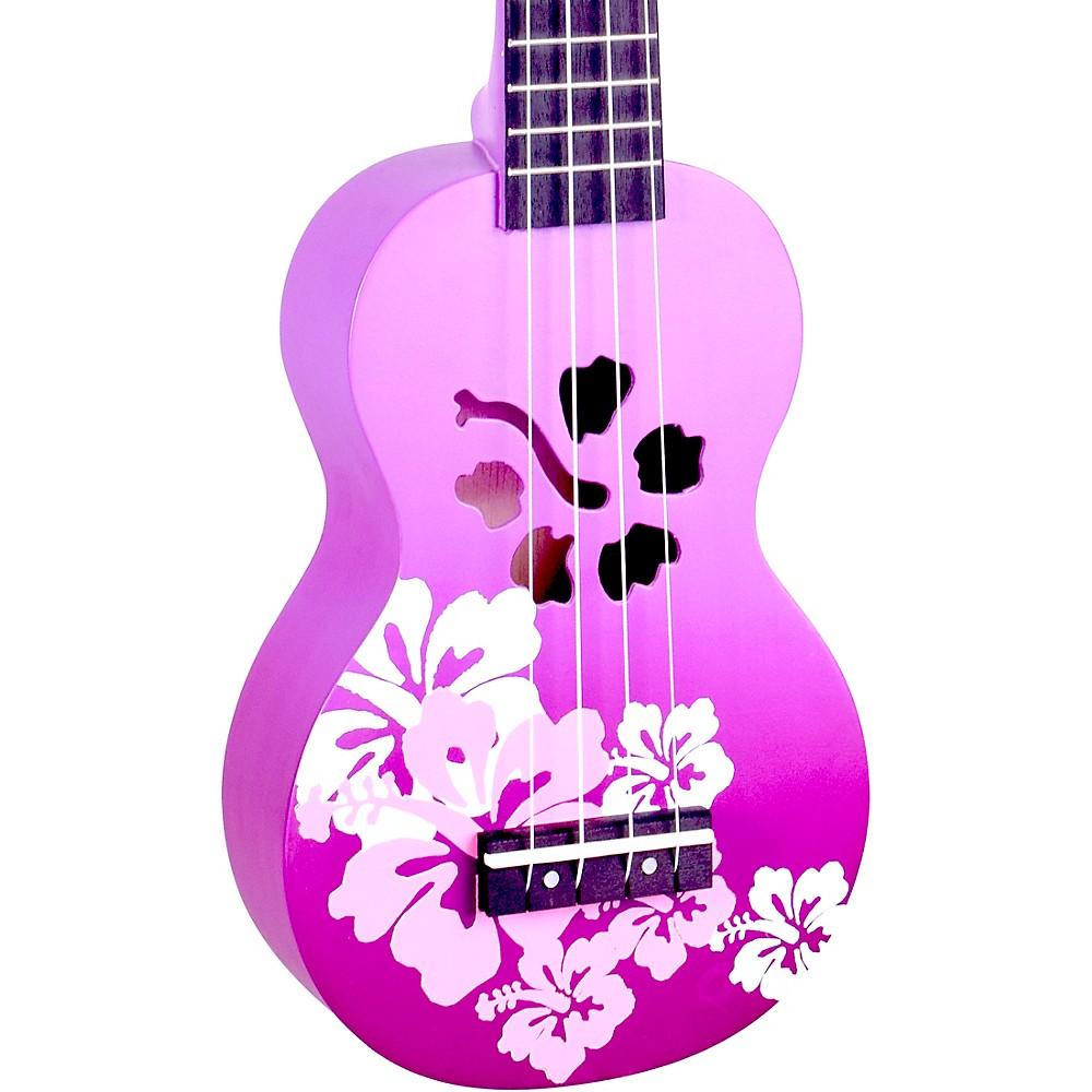 Mahalo Habiscus Flower Soprano Ukulele Purple