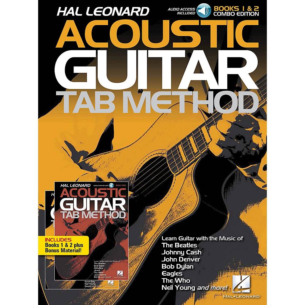 Hal Leonard Hal Leonard Acoustic Guitar Tab Method - Combo Edition Books 1 & 2 With Online Audio, Plus Bonus Material Book/Audio Online