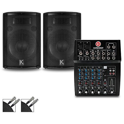Harbinger L802 Mixer and Kustom HiPAC Speakers 10
