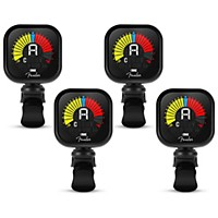 4-Pack Fender Flash USB Rechargeable Clip-On Tuner