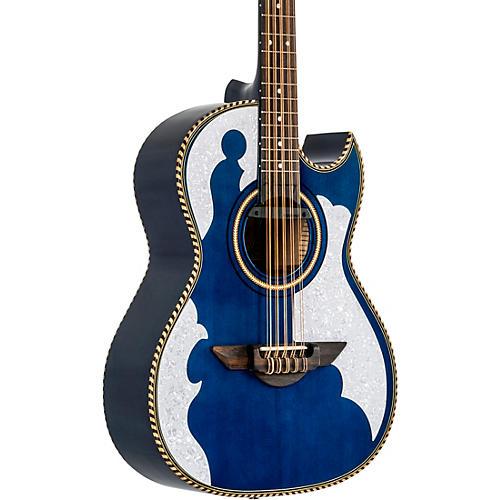 H. Jimenez LBQ4 Bajo Quinto El Patron Series Acoustic-Electric Blue