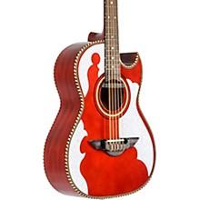 LBQ4 Bajo Quinto El Patron Series Acoustic-Electric Red