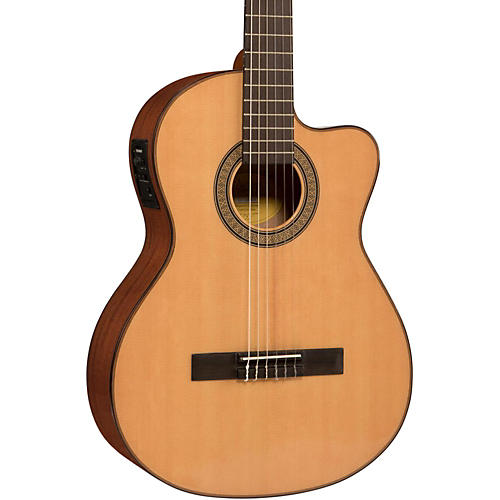 Lucero LC150Sce Spruce/Sapele Cutaway Acoustic-Electric Classical Guitar Condition 1 - Mint Natural