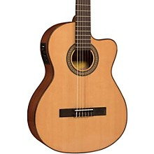 Open BoxLucero LC150Sce Spruce/Sapele Cutaway Acoustic-Electric Classical Guitar