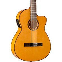 Lucero LFB250Sce Spruce/Cypress Thinline Acoustic-Electric Classical Guitar