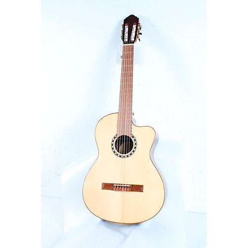 Lucero LFN200SCE Spruce/Rosewood Thinline Acoustic-Electric Classical Guitar Condition 3 - Scratch and Dent Natural 194744166068