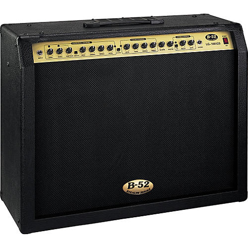 b 52 lg 10012s 100w stereo 2x12 solid state guitar combo musician 39 s friend. Black Bedroom Furniture Sets. Home Design Ideas