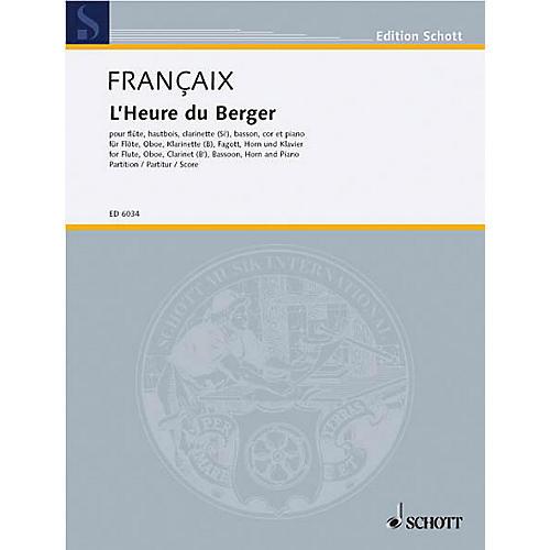 Schott L'Heure du berger (Score) Schott Series by Jean Françaix