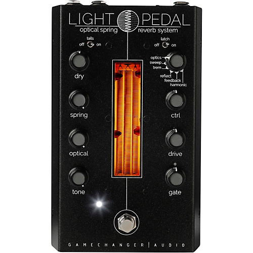 Gamechanger Audio LIGHT Analog Optical Spring Reverb Effects Pedal Black