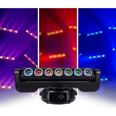 Blizzard LOOP Moving-head RGBW LED Linear Multi-beam Effect with LED Rings
