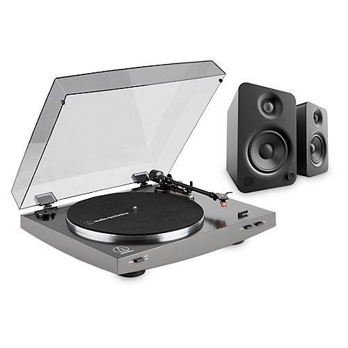 Audio-Technica LP2X Record Player and Kanto YU4 Powered Desktop Speakers