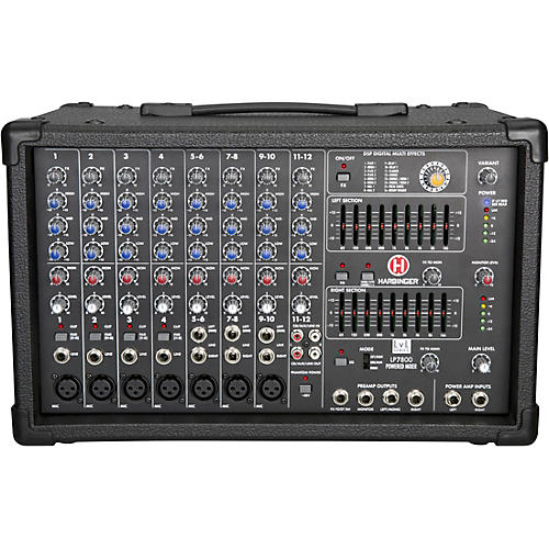 LP7800 12-Channel Powered Mixer