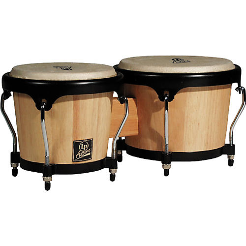 LP LPA601 Aspire Oak Bongos with Black Hardware