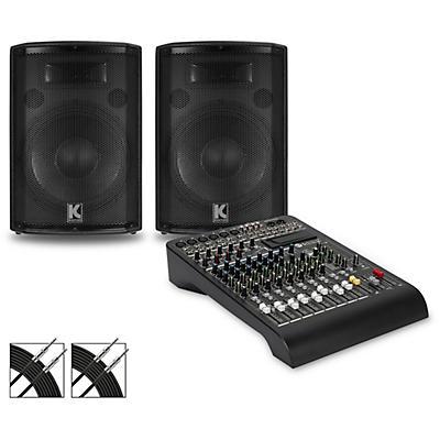 RCF LPAD-12X Mixer and Kustom HiPAC Speakers