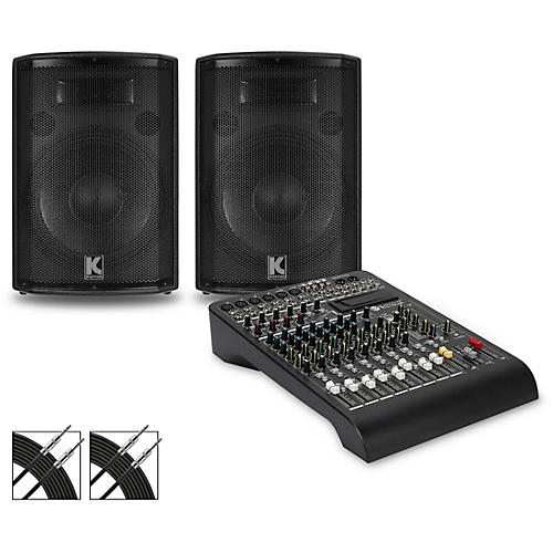 RCF LPAD-12X Mixer and Kustom HiPAC Speakers