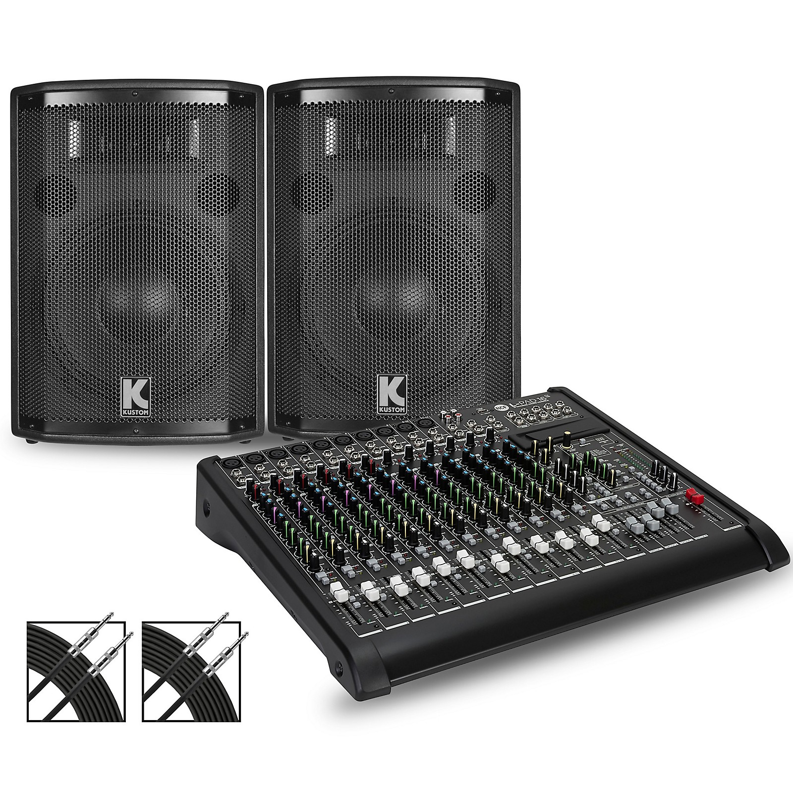 RCF LPAD-16X Mixer and Kustom HiPAC Speakers