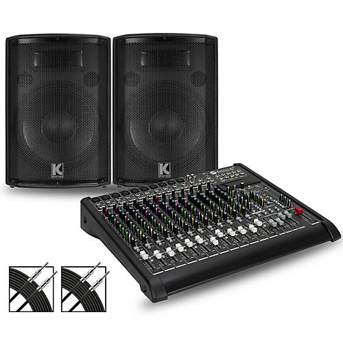 RCF LPAD-16X Mixer and Kustom HiPAC Speakers