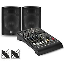LPAD-8X Mixer and Kustom HiPAC Speakers 12