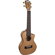 Open BoxLanikai LQA-CCA Quilt Ash Concert Cutaway Acoustic-Electric Ukulele