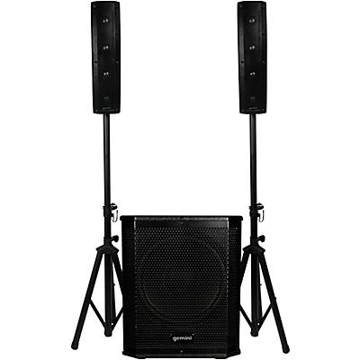 Gemini LRX-1204 Portable Line Array PA System With 12 in. Subwoofer And Stands