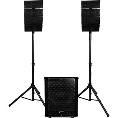 """Gemini LRX-448 Portable Line Array PA System With 12"""" Subwoofer and Stands"""
