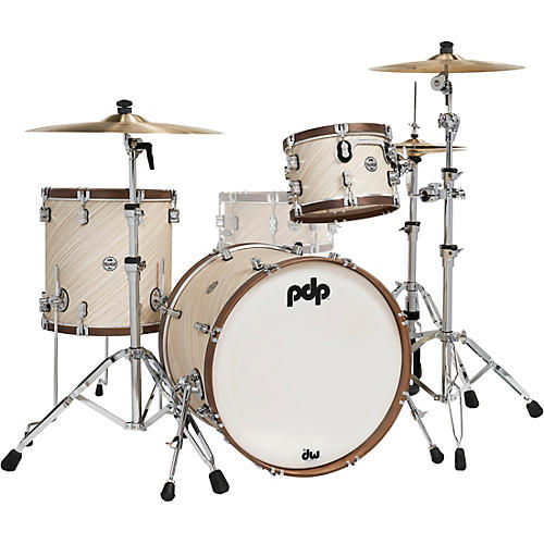 PDP by DW LTD Concept Maple 3-Piece Shell Pack With Walnut Hoops Twisted Ivory