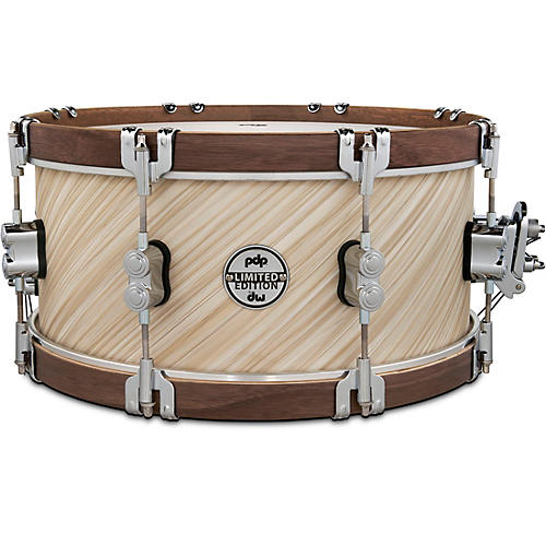 PDP by DW LTD Concept Maple Snare Drum With Walnut Hoops 14 x 6.5 in. Twisted Ivory