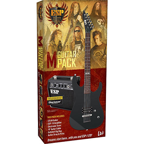 esp ltd m electric guitar value package musician 39 s friend. Black Bedroom Furniture Sets. Home Design Ideas