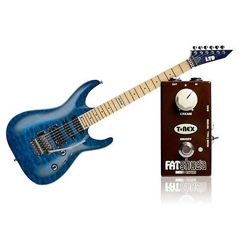 ESP LTD MH-103 Quilted Maple Electric Guitar Bundle