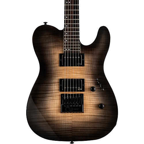 ESP LTD TE-1000 Evertune Electric Guitar Natural Black Burst