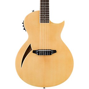 esp ltd tl 6n thinline nylon string acoustic electric guitar natural musician 39 s friend. Black Bedroom Furniture Sets. Home Design Ideas