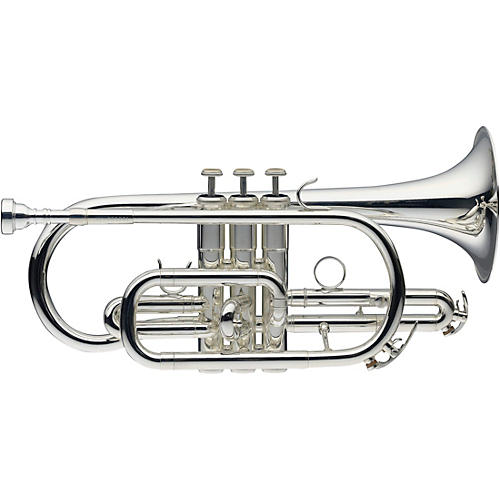 Levante LV-CR5201 Bb Intermediate Cornet with Monel Valves - Silver Plated Silver plated