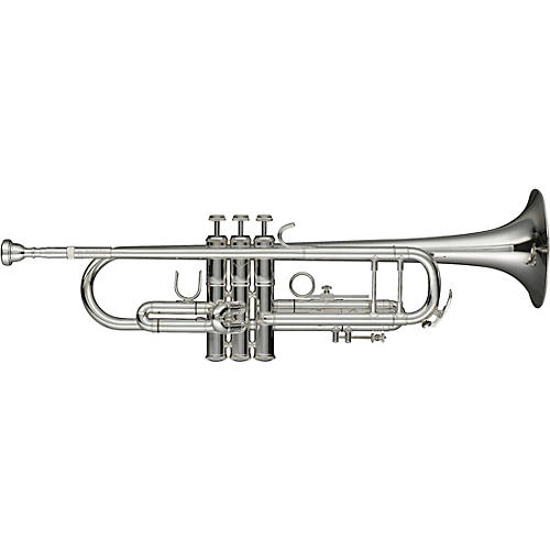 Levante LV-TR6301 Bb Professional Trumpet with Monel Valves - Silver Plated Silver plated Gold Brass Bell
