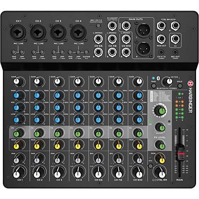 Harbinger LV12 12-Channel Analog Mixer with Bluetooth & FX