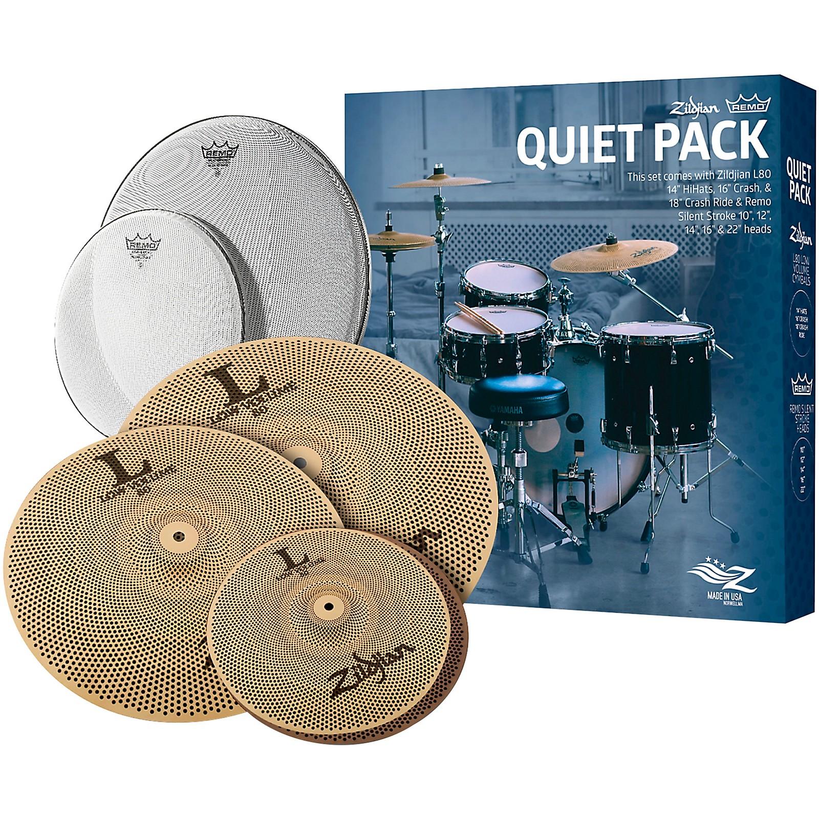 Zildjian LV468 Low Volume Cymbal Set with Remo Silent Stroke Heads