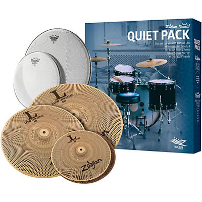 Zildjian LV468RH Low Volume Cymbal Pack with Remo Silent Stroke Heads